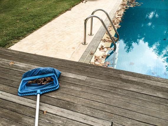 L'acqua della piscina è marrone