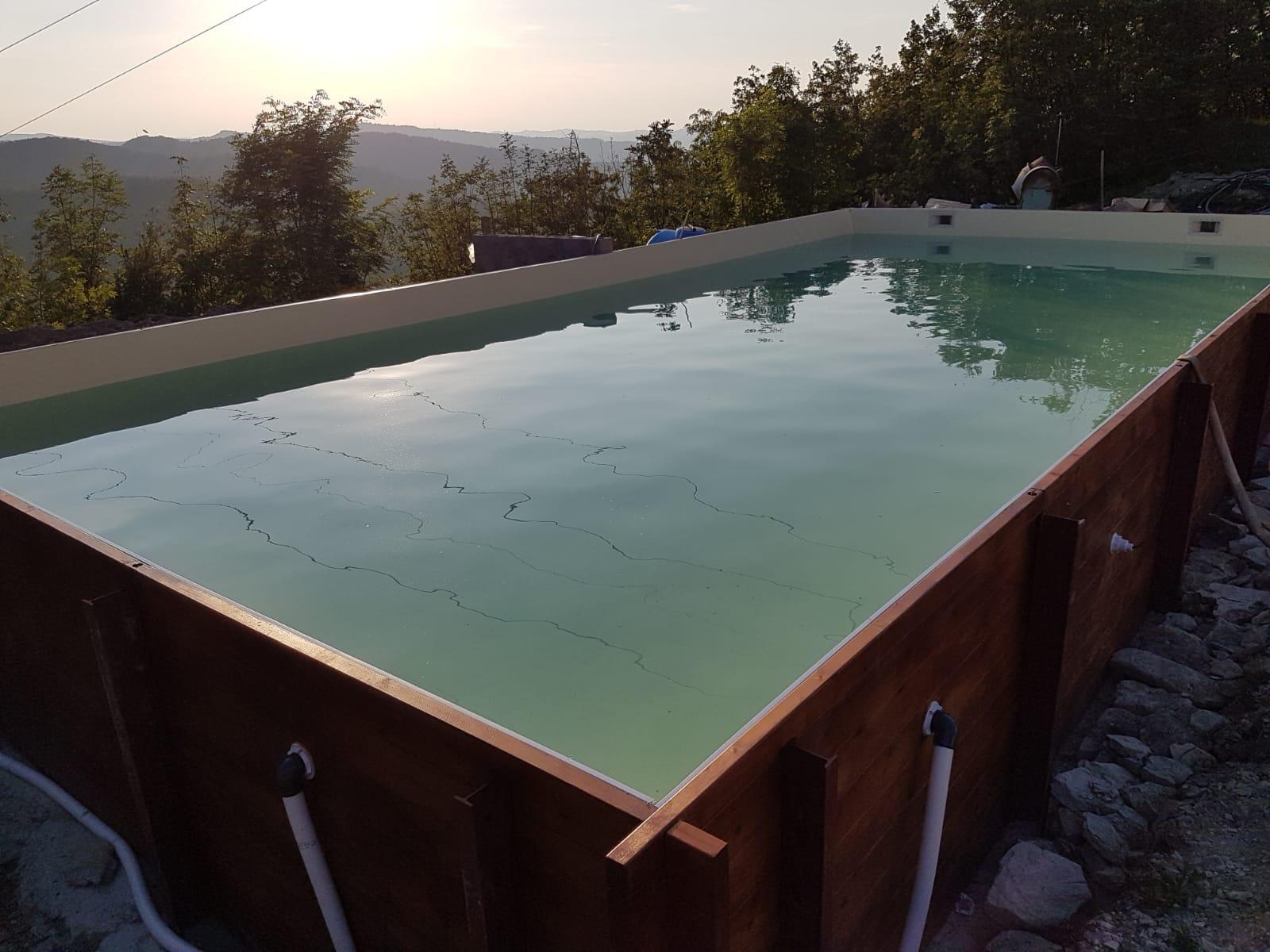 Acqua Azzurra Piscine piscina fuori terra autoportante in legno - aepiscine